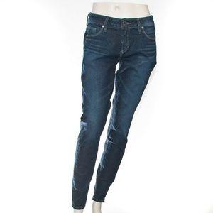 Silver Jeans Elyse Dark Wash Skinny Mid Curvy